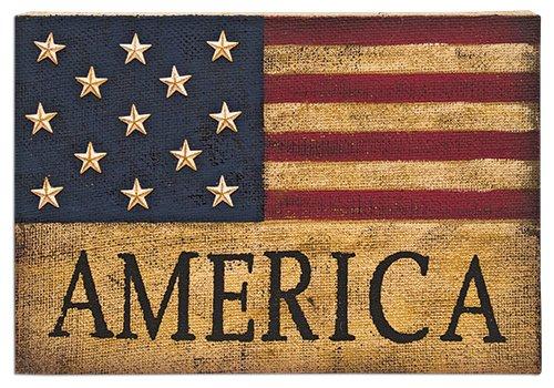 Heart of America America Burlap Sign - Freedom Heart