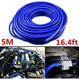 Ronben Car Engine 4mm Silicone Vacuum Tube Hose Silicon Tubing 16.4ft 5 Meters Kit (Blue)