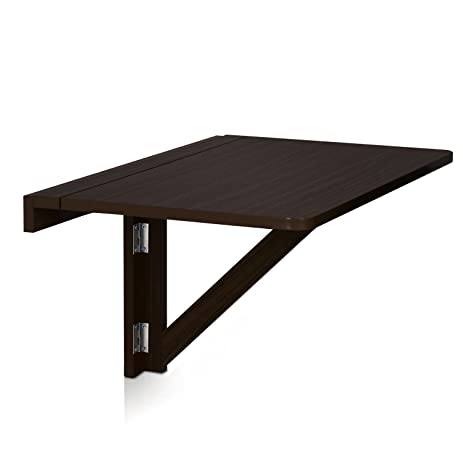 furinno fnaj110191 wallmounted dropleaf folding table espresso