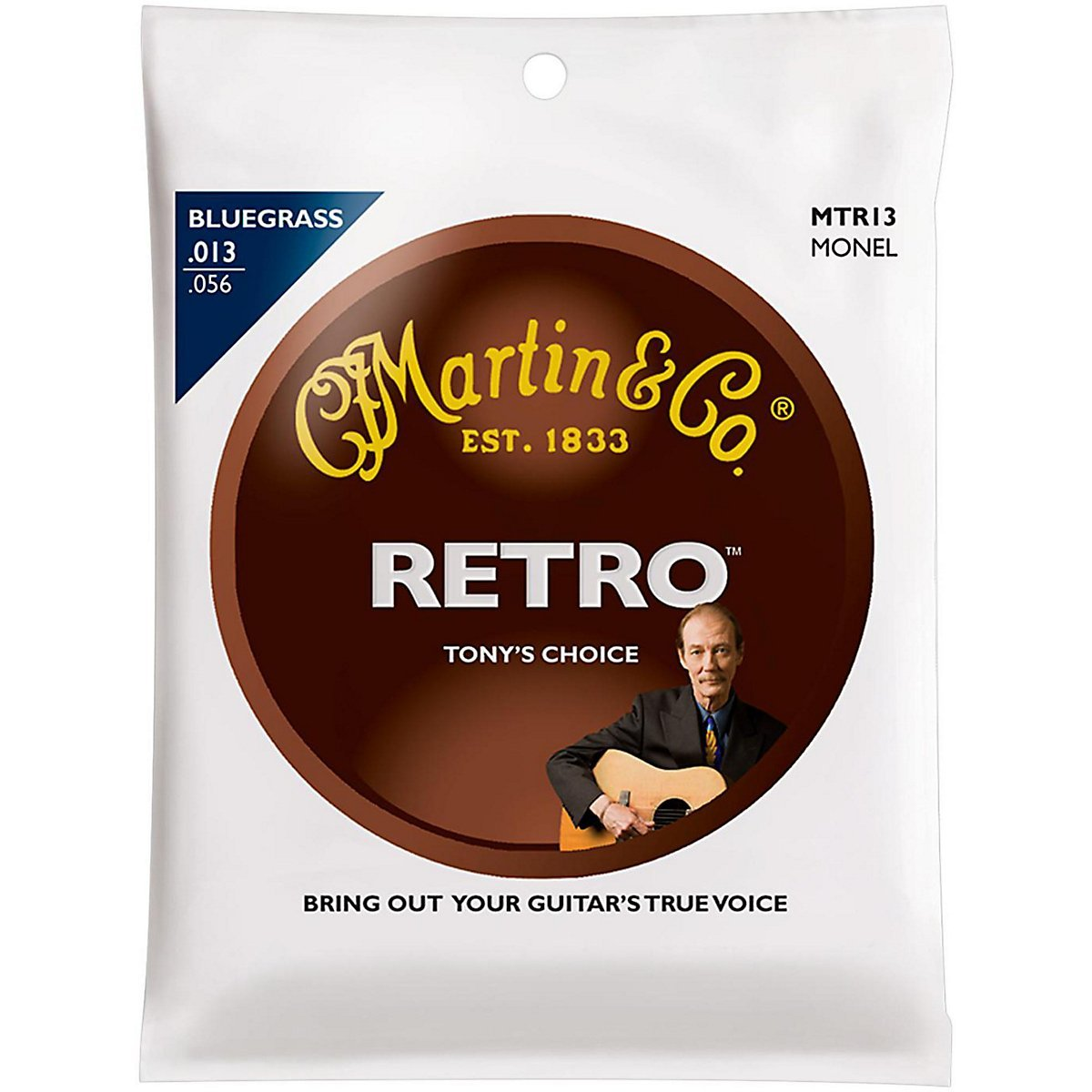 Martin - MTR13 - Tony Rice Bluegrass Acoustic Guitar Strings, .013-.056 41MTR13