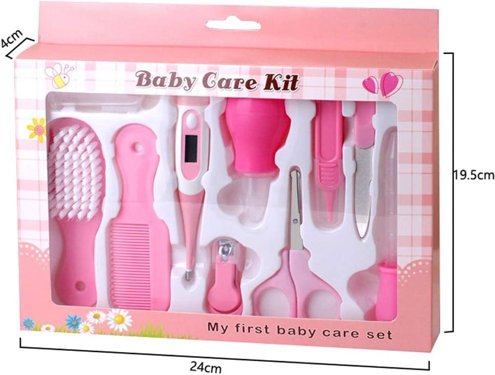 Ni/ñito Salud y Aseo rosa Infantil Yuanu Set para Cuidado Del Beb/é Suave 6 Piezas Conjunto de Elementos Esenciales F/ácil de Usar Perfecto para Reci/én Nacido