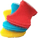 Silicone Sponge Dish Washing Kitchen Scrubber - Magic Food-Grade Dishes Multipurpose Better Sponges Non Stick Cleaning Smart