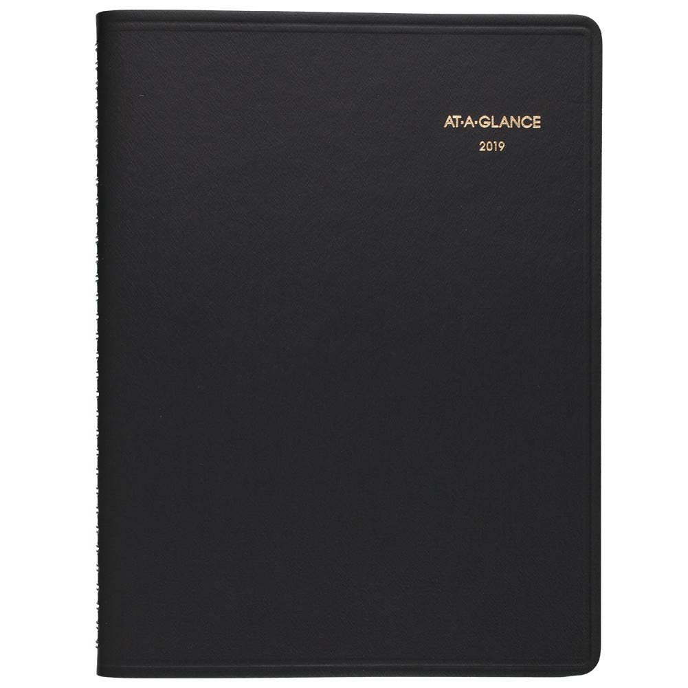 at-A-Glance 2019 Weekly Appointment Book, 12 Month, Eng/Fr, Wirebound, 8 x 11, Black (GF5200019) 8 x 11 DayMinder