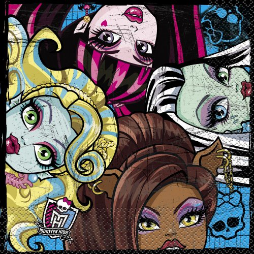 Monster Napkins High Lunch (Monster High Party Napkins,)