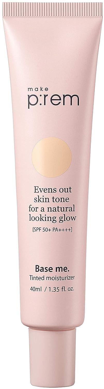 [make p:rem] Base me. Tinted moisturizer | tinted face moisturizer | tinted moisturizer for face with spf | lightweight formula with SPF 50 | 40ml, 1.35 fl.oz. | MAKEP:REM makeprem