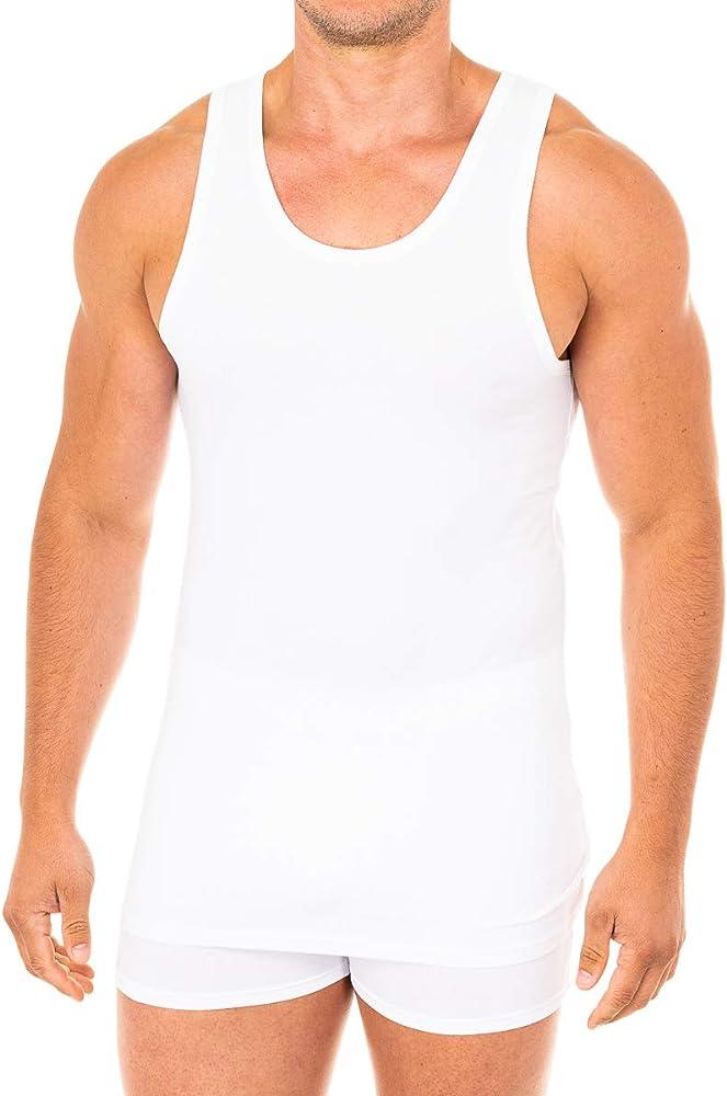Abanderado Camiseta Sport de Tirantes Suavidad Real algodón Peinado, Blanco (Blanco 001), Medium (Tamaño del Fabricante:M/48) para Hombre: Amazon.es: Ropa y accesorios