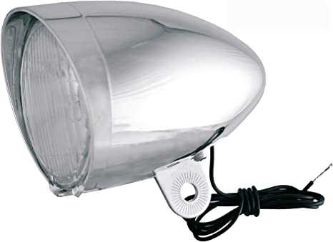 Luz de Bicicleta Faro Foco Delantero Cromado Frontal con Lampara ...