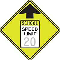 Accuform (SCHOOL SPEED ZONE AHEAD) (FRW21920)