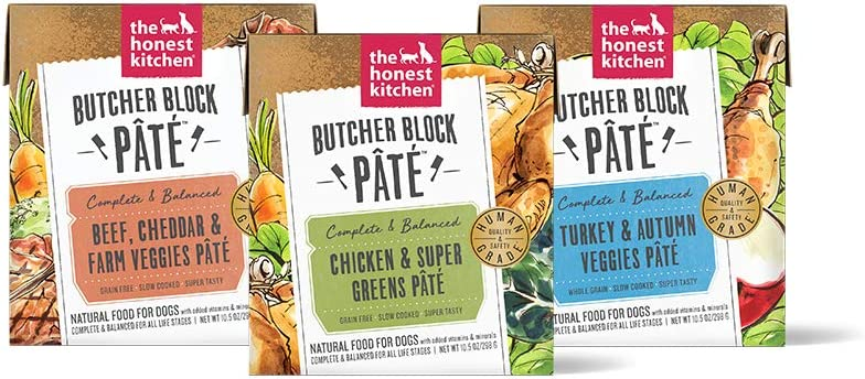 Butcher Block Pate Wet Dog Food, Variety 3-Pack