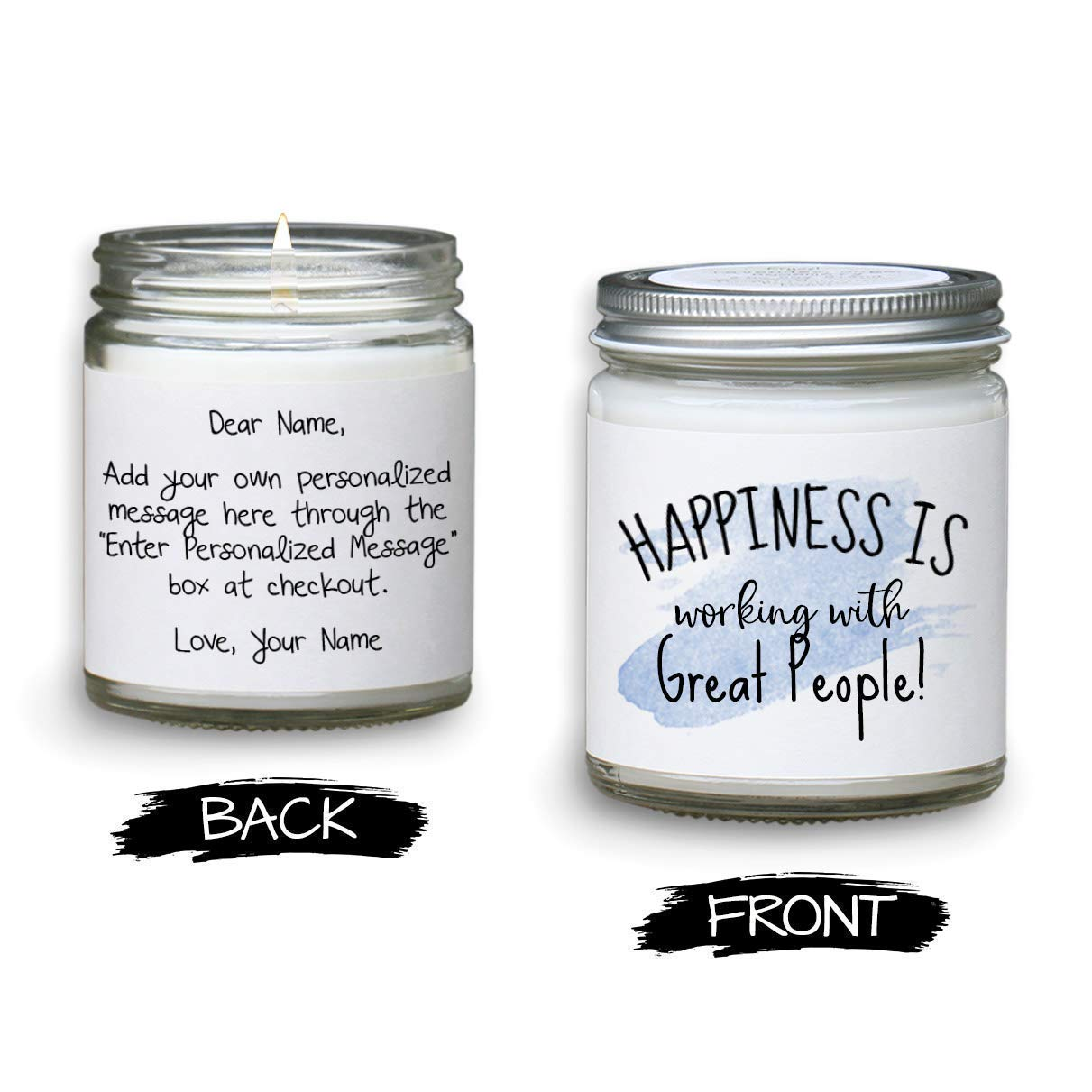 2b41c69b168 Amazon.com: Leaving Gift for Coworker - Personalized Candle Message ...
