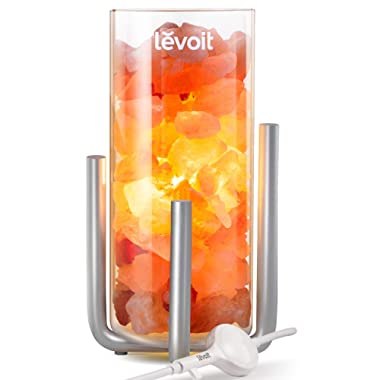 Levoit Viéra Himalayan Salt Lamp, Natural Himilian Hymalain Pink Salt Rock Lamps(9.9 lbs,12.2 ), Hymilian Sea Salt Crystals Night Light with Touch Dimmer Switch,3 Bulbs, UL Cord & Gift Box