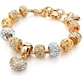 Yellow Chimes Multicolor Triple Gold/Silver Plated Alloy Charm Bracelet for Women & Girls