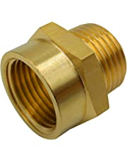 "BOWSEN Pipe Fitting Adapter Female G1/2"" Thread to Male NPT1/2 Thread Lead Free (1-Piece)"