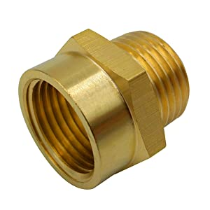 """BOWSEN Pipe Fitting Adapter Female G1/2"""" Thread to Male NPT1/2"""" Thread Lead Free (1-Piece)"""