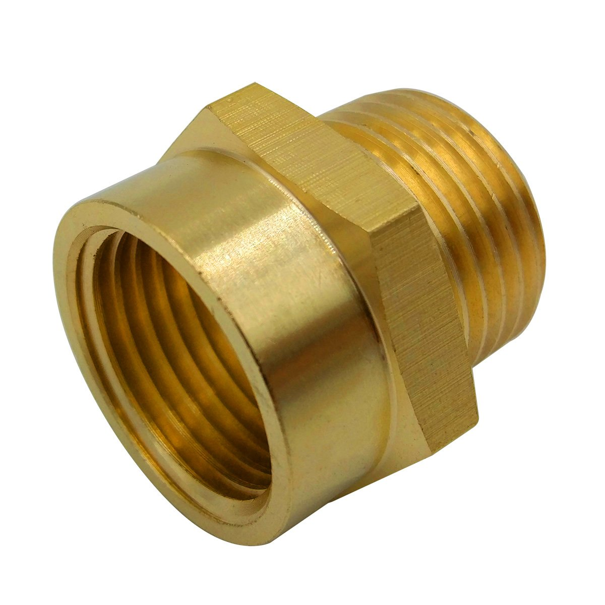 BOWSEN Pipe Fitting Adapter Female G1/2'' Thread to Male NPT1/2'' Thread Lead Free (1-Piece)
