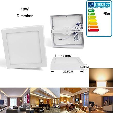 Topwill 18W LED Panel Lámpara de Techo 3000K Luz Blanca ...