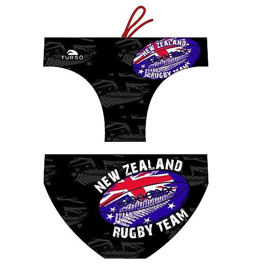 Turbo - Bañador RUGBY NEW ZEALAND de Waterpolo Competicion Natación y Triatlón Patrón de ajuste cómodo