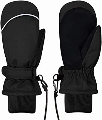 Essentials boys Water-Resistant Snow Ski Mittens Cold Weather Gloves