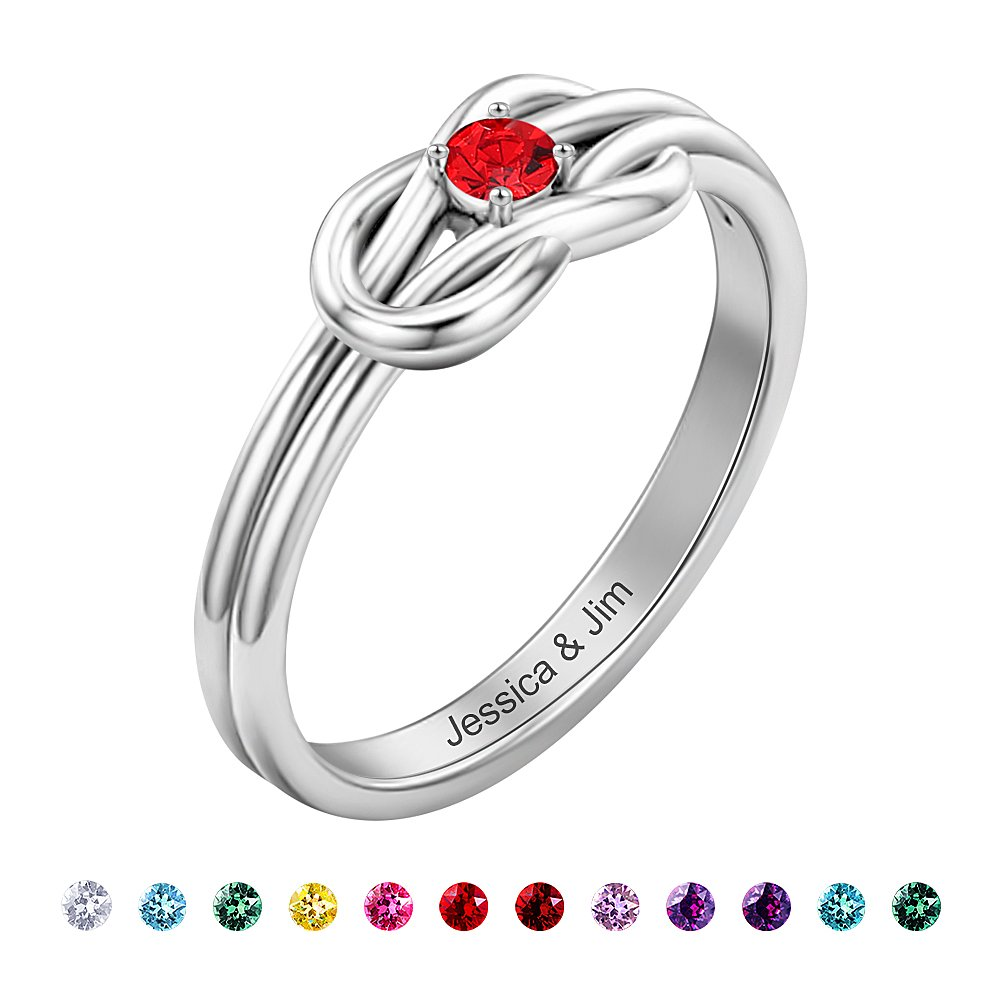 SOUFEEL Promise Rings For Her Sterling Silver Ring Custom Engagement Rings Size 7 by SOUFEEL (Image #1)