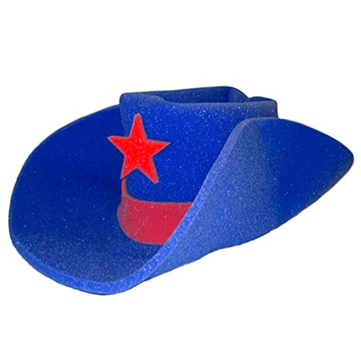Amazon.com  Giant Foam Cowboy Hat Blue  Kitchen   Dining f7dbefd9cda