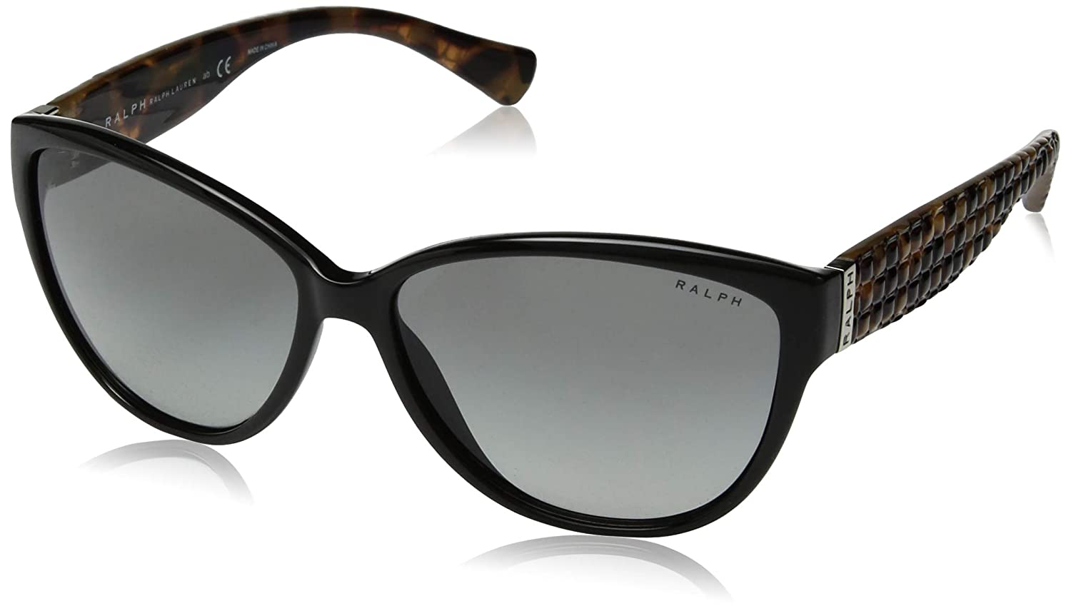 Ralph by Ralph Lauren Women's 0ra5176 Cateye Sunglasses, Black, 58.0 mm
