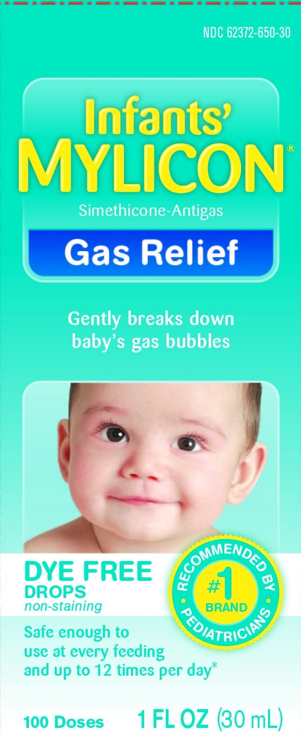Mylicon Infant Drops Anti-gas Relief Dye Free Formula, 1.0 Fluid Ounce Per Bottle (3 Bottles)