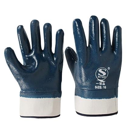 Gloves Guantes de nitrilo de lona, resistentes al aceite y ...
