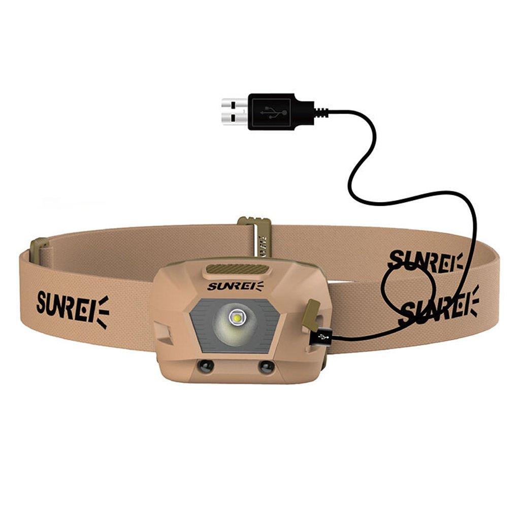 Automatische Induktions-Scheinwerfer Lithium-Aufladung im Freien Nachtfischen LED-Fischerei-Lichter-Gebühren-Modelle Induktionsscheinwerfer USB-Gebühr (1800mAh eingebaute Lithium-Batterie)