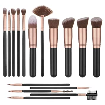 Lalafancy Brochas de Maquillaje Kit 16 Piezas Juego de Cepillo de Maquillaje Profesional Pinceles Maquillaje Makeup Brushes Set