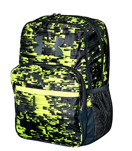 Under Armour HOF Youth Boys Athletic Multi purpose School Backpack (Black/green/grey)