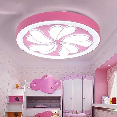 Luces de techo - Lámpara de techo redonda con flores LED ...
