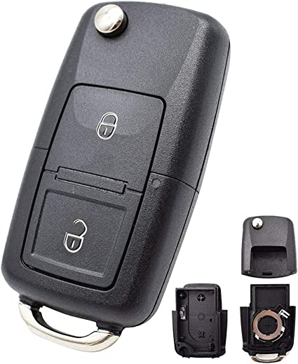 Repair For VW Volkswagen Seat Skoda Remote Car Key fob New Case 3 Button