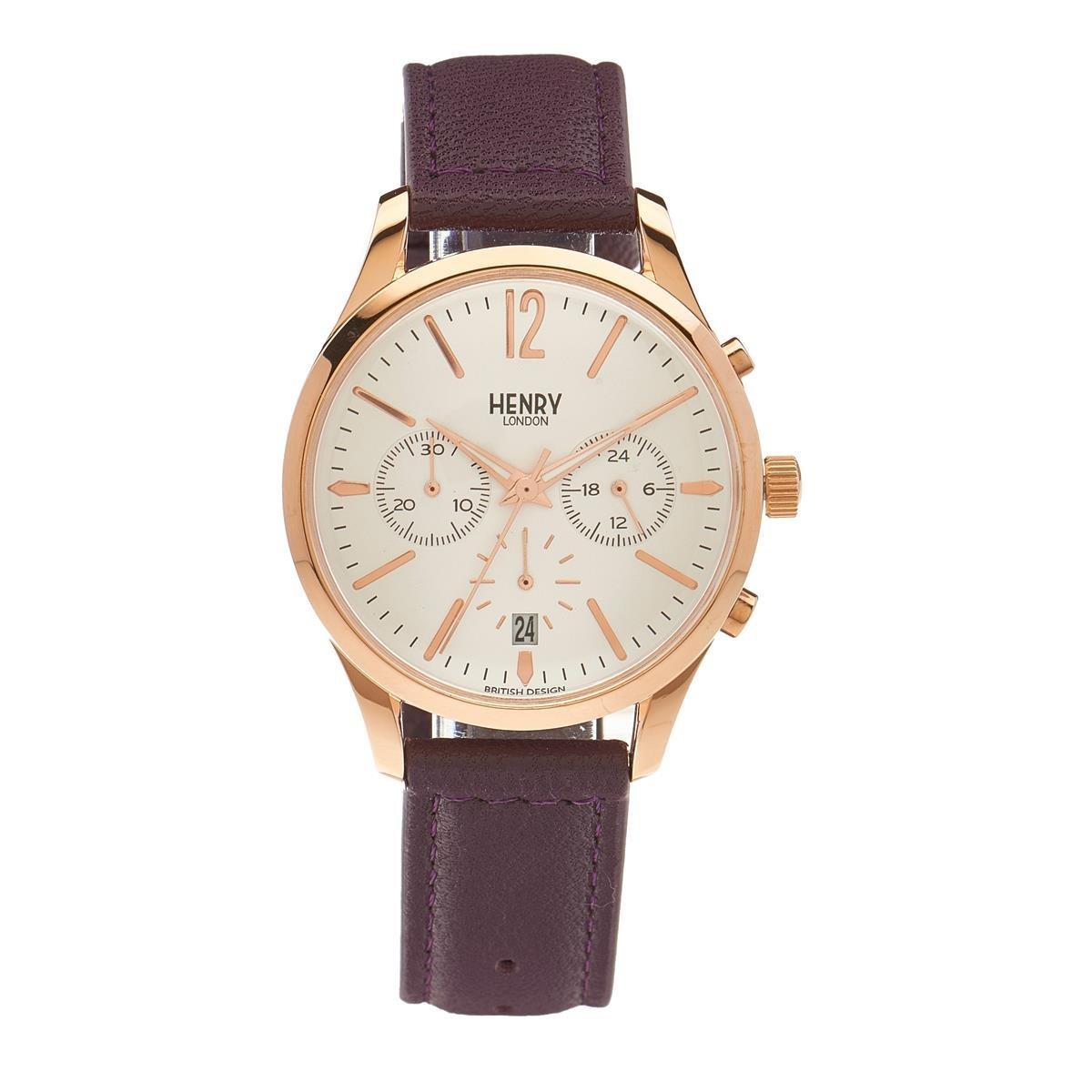 Henry de Londres Unisex Reloj de pulsera Hampstead Cronógrafo Cuarzo Piel hl39 de CS de 0090 (Reacondicionado Certificado): Amazon.es: Relojes