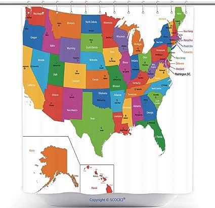 La Cartina Degli Stati Uniti D America.Mappa Usa Con Capitali
