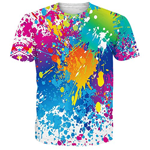 Alistyle Creative 3D Graffiti Dye Sublimation Printed Short Sleeve Graphic Men Women Unisex Couple Tees Top  Graffiti1  X Large