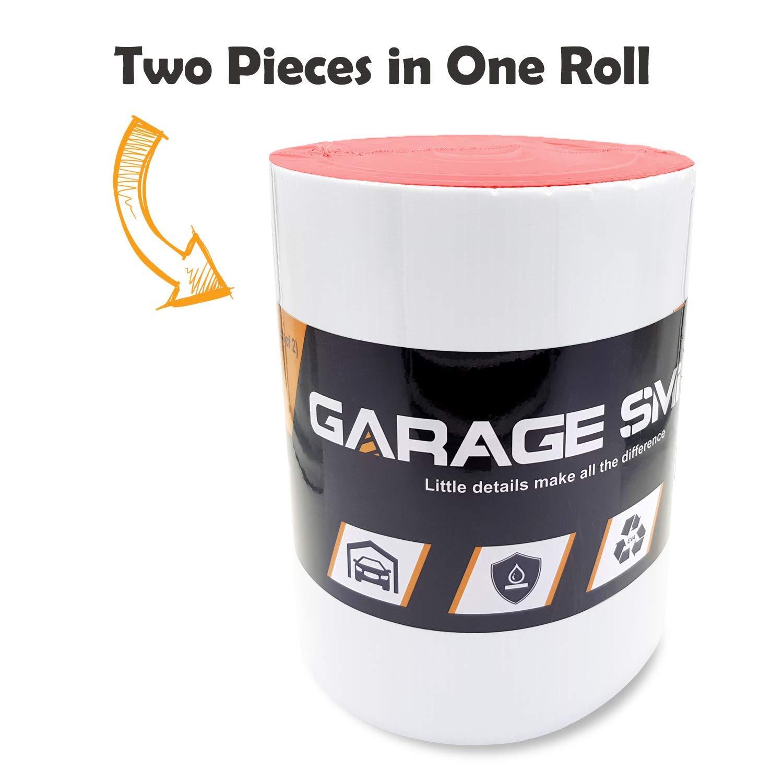 Pack de deux Ampulla Ultra Epais Protecteur Mural Du Garage Resistant A Leau 6,5mm d/épaisseur rouge Con/çu En Allemand