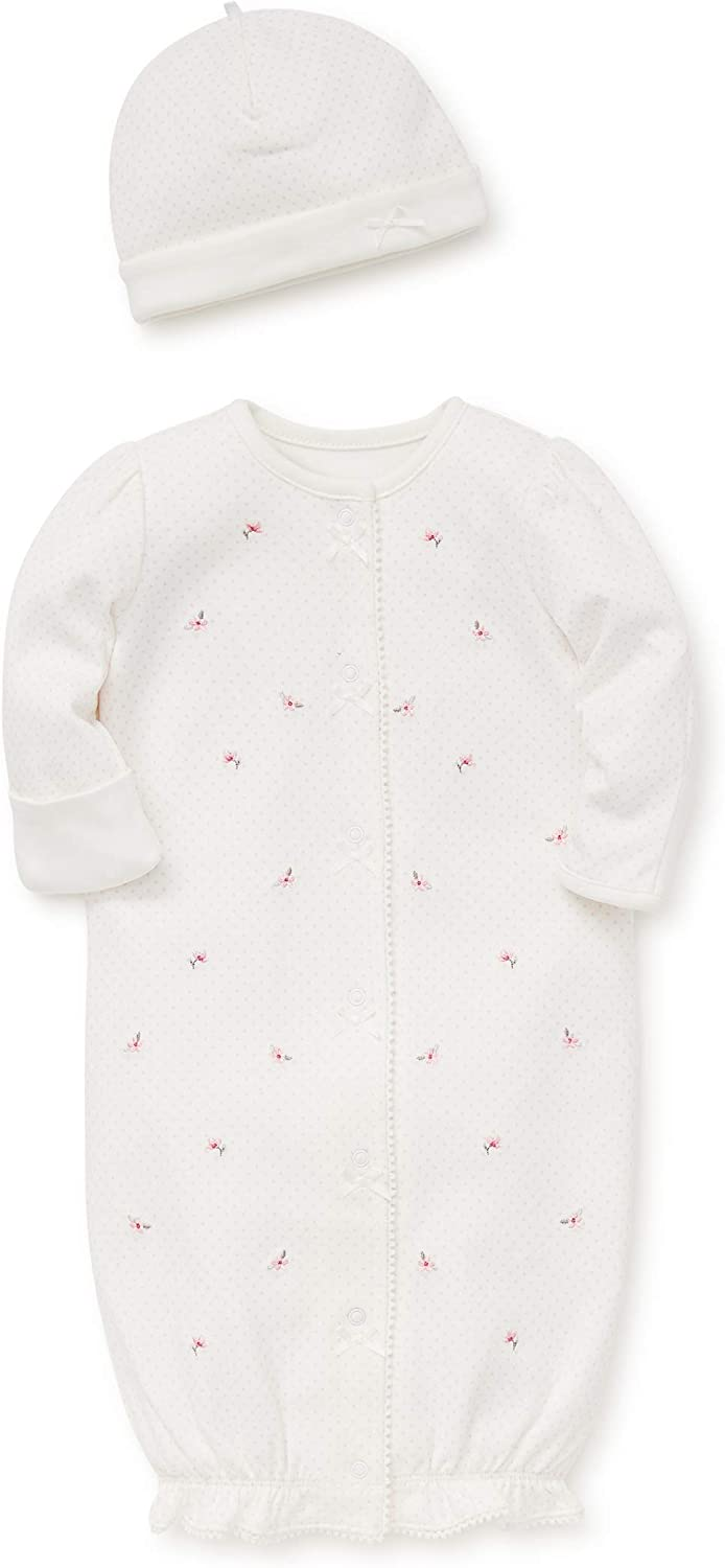 Little Me Baby-Girls Newborn Gown and Hat