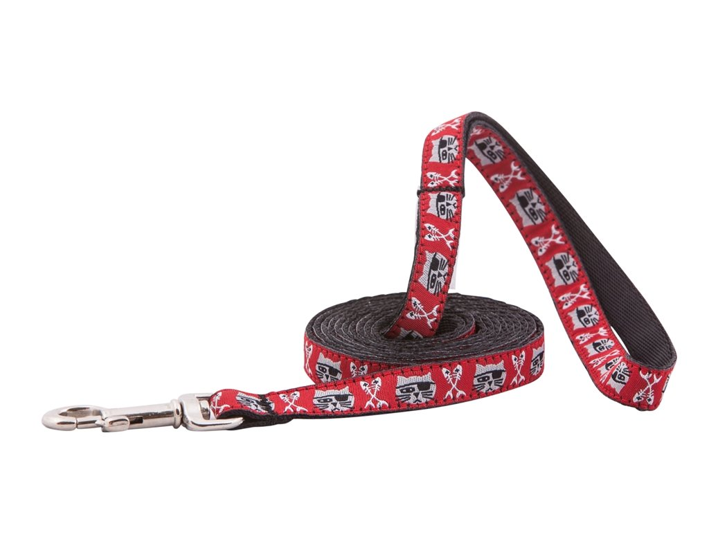 RC Pet Products Kitty Cat Leash, 1/2-Inch by 6-Feet, Pirate Cat