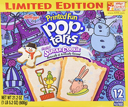 Pop Tarts Frosted Sugar Cookie - Limited Edition, 12 Pastries, 21.2 oz Box (Frosted Sugar Cookies)