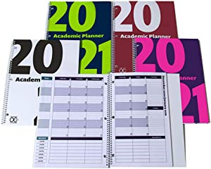 2020-2021 Academic Planner, A Tool for Time Management, Daily, Weekly & Monthly School Agenda for Keeping Students On Track & On Time, (July 2020-June 2021), Size 8.5x11, Blue/Lime