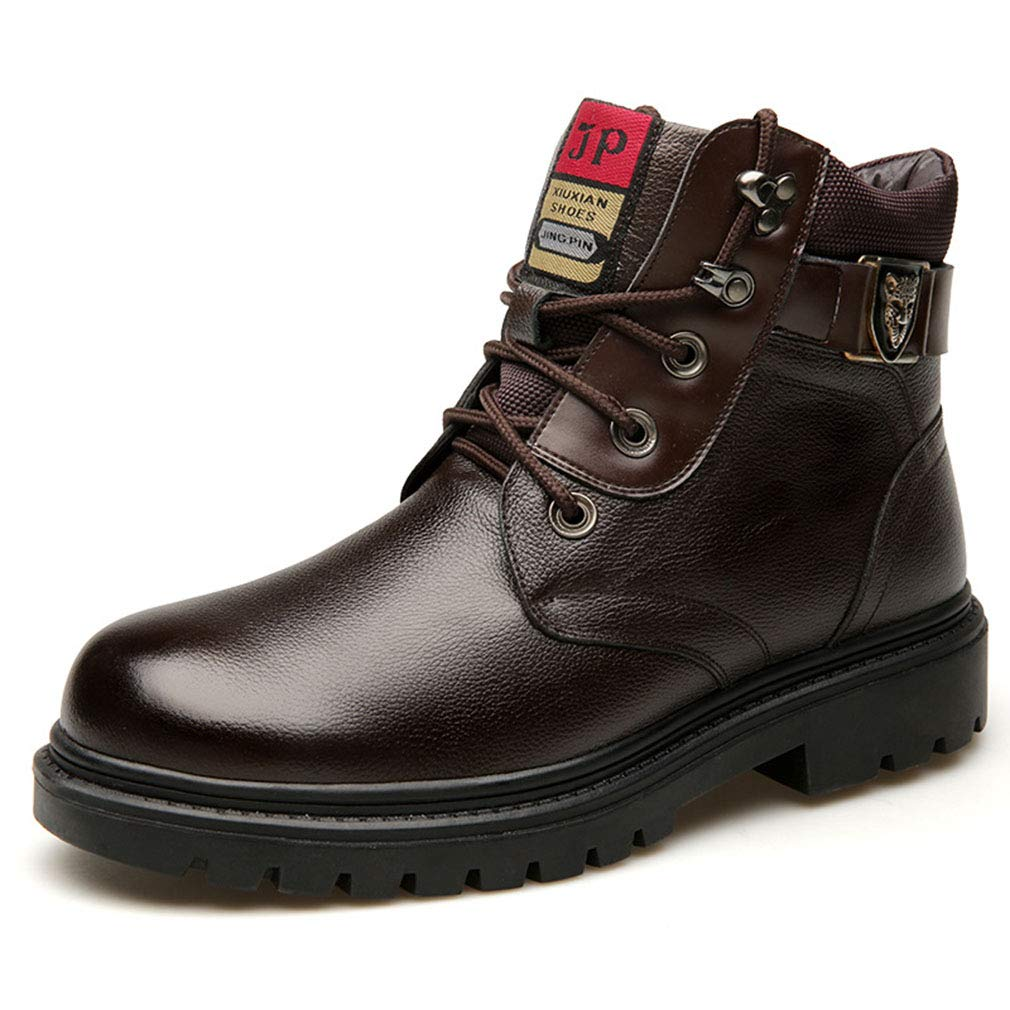 Gfphfm Men ' S S ' Stiefel, Winter New Casual Martin Stiefel Plus Velvet Keep Warm Leather Snow Stiefel schwarz, braun,A,43 db26d8