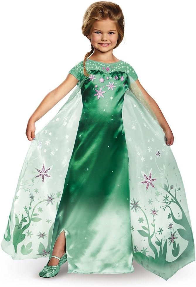 Frozen Fever Costume Anna Cosplay Dress Princess Adult Fancy Ball Gown Halloween