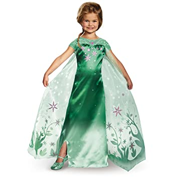 Amazoncom Elsa Frozen Fever Deluxe Costume One Color Small 4