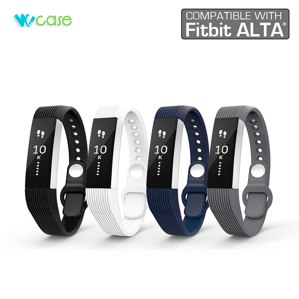 WoCase Accessory Wristband Classic Style for Fitbit Alta Best Gift for Fitbit Alta User Activity and Sleep Tracker Wristband Band Bracelet One Size, Fits Most Wrist