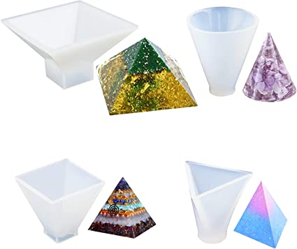 Large Pyramid Silicone Mold Ornament Resin Jewelry Making Mould Epoxy Craft DIY