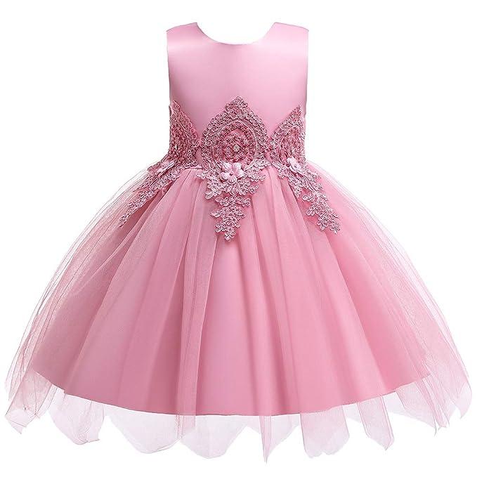 Kids Beauty Girls Dresses Toddler Girl Wedding Dress Lace Tulle Flower Embroidered Summer Dresses