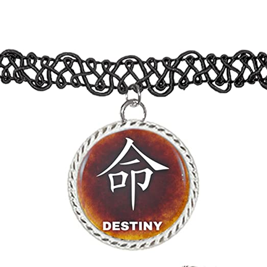 Amazon Destiny Chinese Symbol Illustration Choker Pendant Charm
