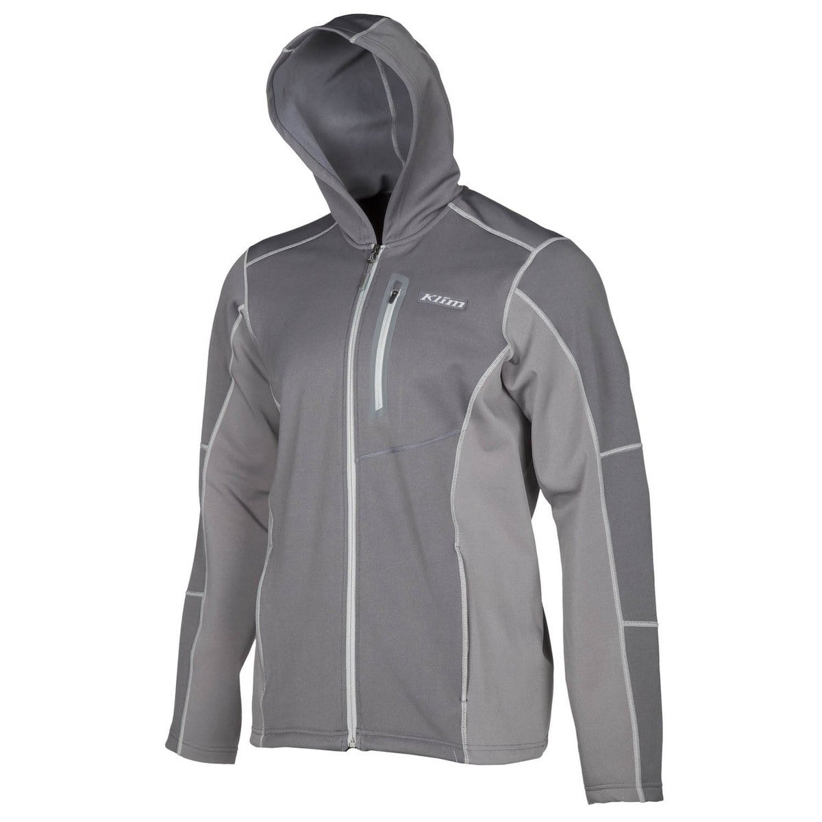 Klim Inferno Men's Hoody Zip Snowmobile Jacket - Dark Gray / 3X-Large by KLIM