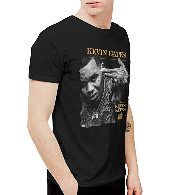 PeterF Men's Kevin Gates Islah T Shirts Black | Amazon com