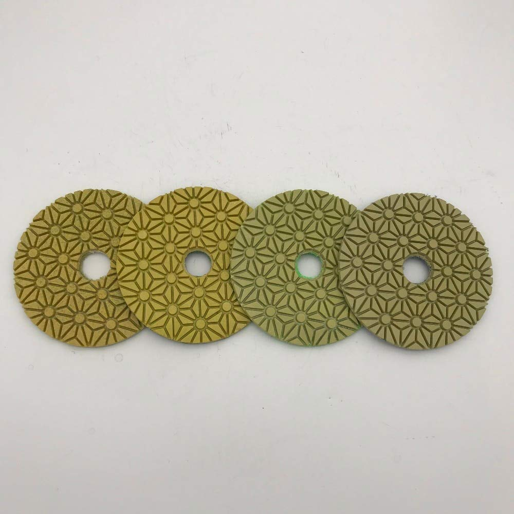 HATABO Store 4 Step Polishing Pad 100 Mm Universal Type for Engineered Stone Thickness 2.8 Wet Or Dry Pieces//lot Linen Tablecloth
